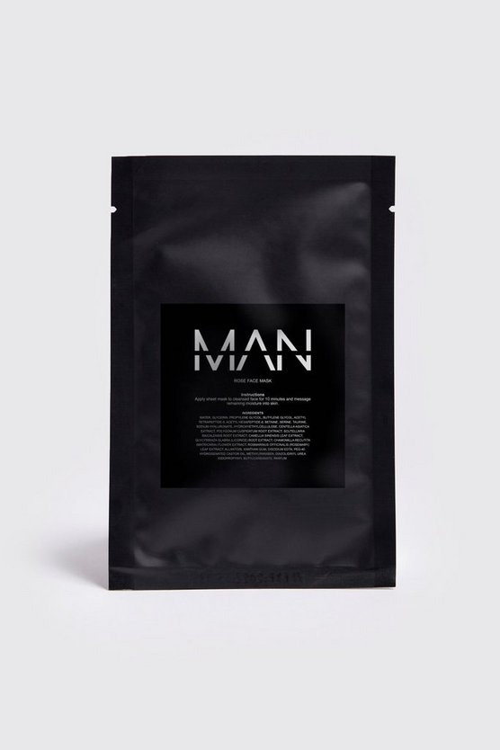 Clear MAN Rose Sheet Face Mask