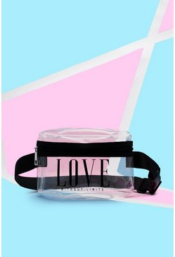 Mens Pride Clear Perspex Bumbag With Print