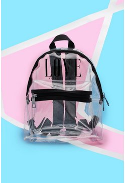 Mens Pride Clear Perspex Rucksack With Print