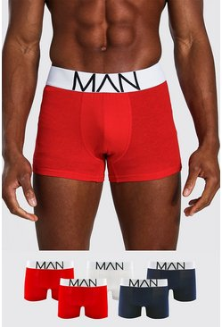 Herr Multi 5 Pack Mix Colour MAN Signature Trunks