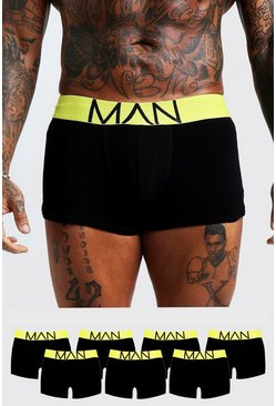 Neon-yellow 7 Pack Neon Waistband Boxers
