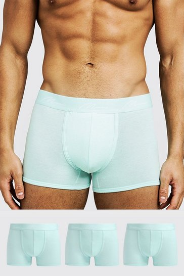 Aqua 3 Pack MAN Signature Trunks