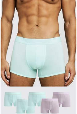 Mens Multi 5 Pack Mix Colour MAN Signature Trunks