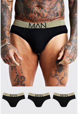 3 Pack Gold Briefs