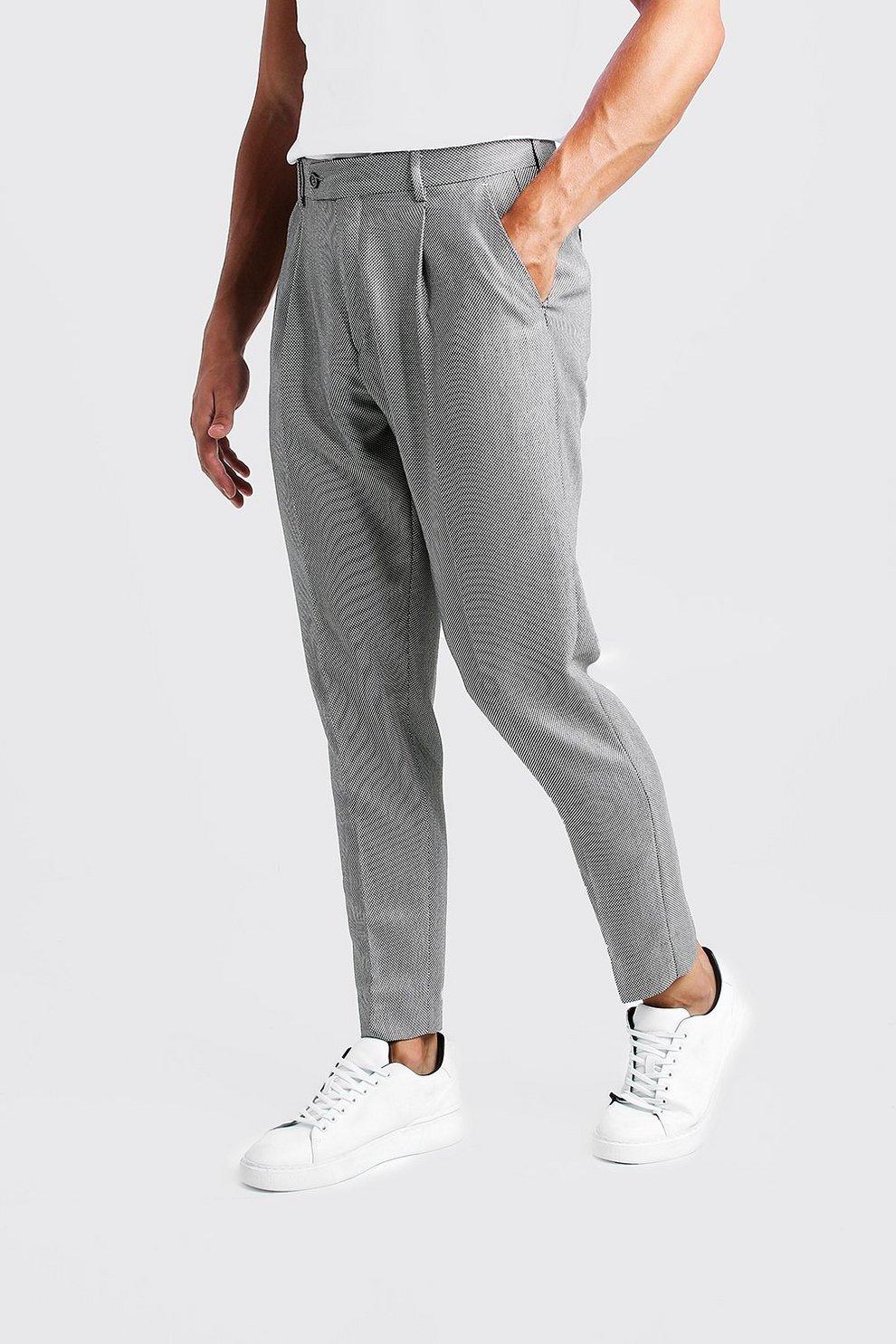 Textured Pleat Front Smart Trouser | Boohoo