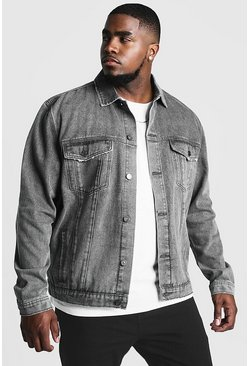 Charcoal Big & Tall Denim Western Jacket