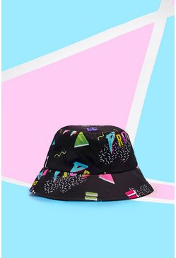 Mens Black Pride Bucket Hat With Equality Print