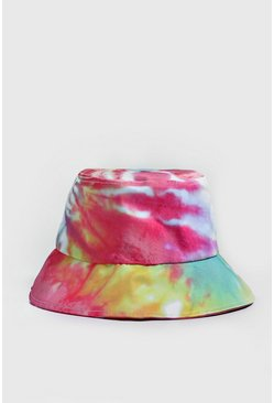 Mens Pink Pride Bucket Hat With Tie Dye