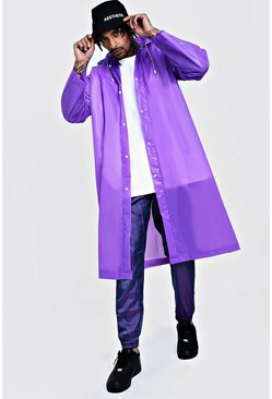 Mens Purple Festival Eva Raincoat