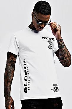 Multi Graphic Print T-Shirt