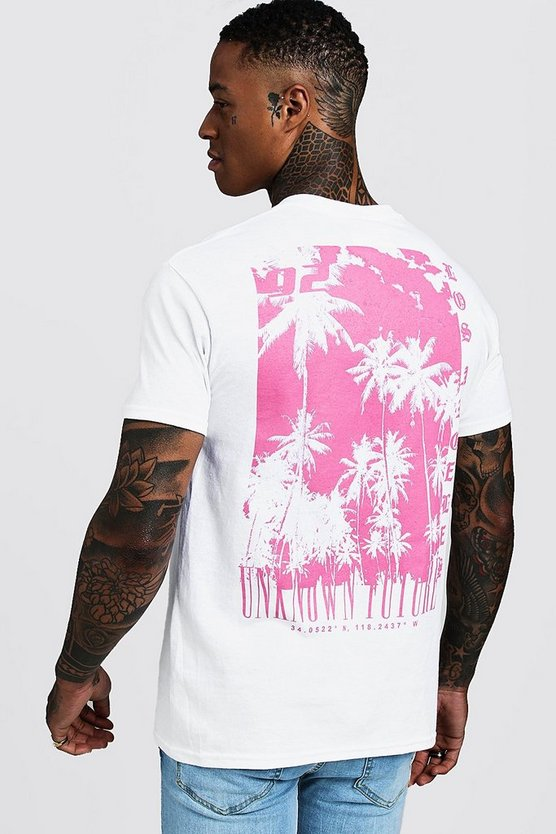 White Graphic T-Shirt With Front And Back Print