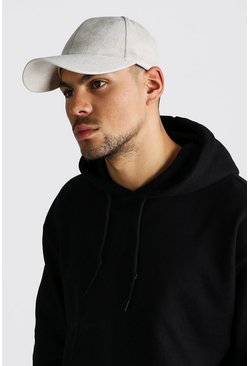 Mens Stone Suede Look Cap