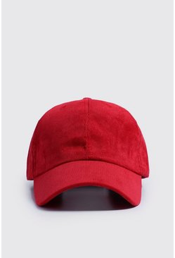 Mens Red Cord Cap