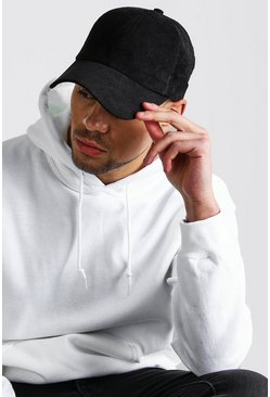 Mens Black Cord Cap