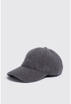 Mens Grey Full Borg Cap