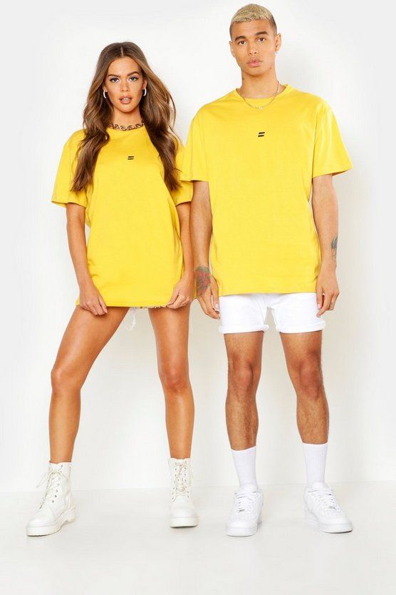 Mustard Pride Loose Fit T-Shirt With Back Print