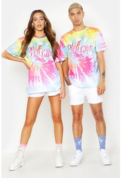 Herr Pink Pride Tie Dye T-Shirt With Front & Back Print