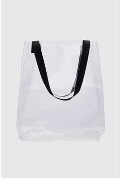 Mens Clear Tote Bag