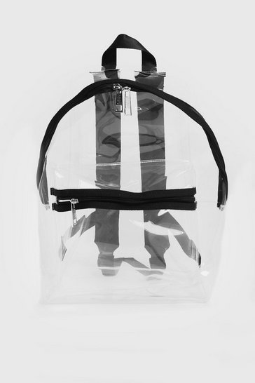 Mens Clear Perspex Backpack