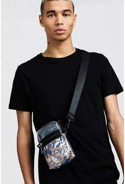 Mens Clear Perspex Mini Crossbody