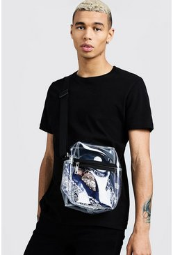 Mens Clear Perspex Crossbody Bag