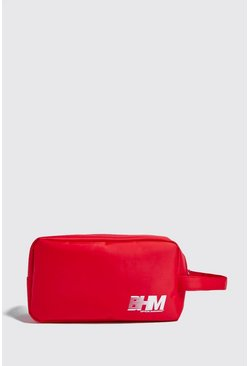 Herr Red MAN Print Washbag