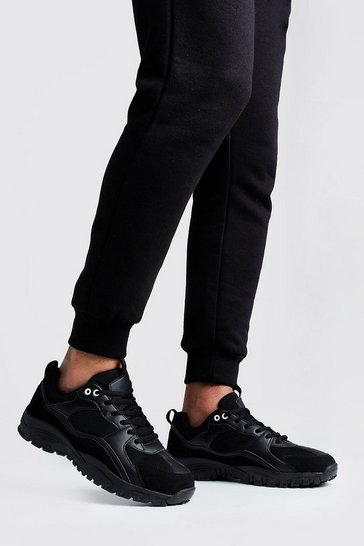 Black Hiking Sole Trainer