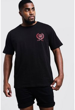 Mens Black Big & Tall T-Shirt With Future Back Print