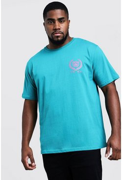 Mens Jade Big & Tall T-Shirt With Future Back Print