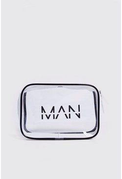 Mens Clear MAN Cosmetics Bag
