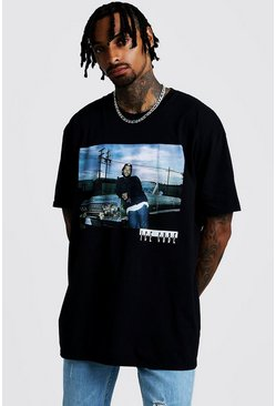 "Oversized-T-Shirt ""Ice Cube"", Schwarz"