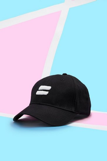 Mens Black Pride Cap With Embroidered 3D Equality Symbol