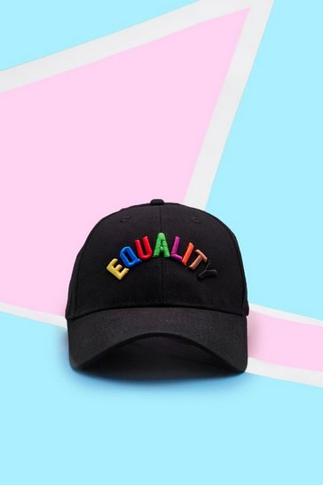 Mens Black Pride Cap With 3D Equality Embroidery