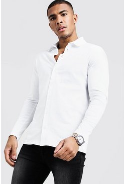 Herr White Long Sleeve Jersey Shirt