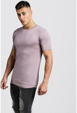 Muscle-Fit T-Shirt im angedeuteten Lagen-Look, Braun, Herren