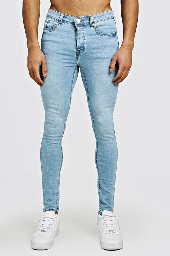 Spray On Skinny Jeans In Light Blue