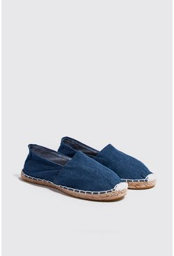 Espadrillas slip on in denim, Maschio