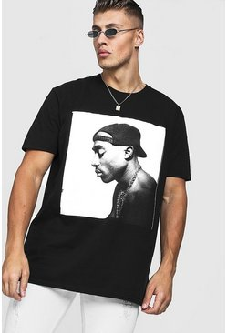 Herr Black Tupac Oversized License T-Shirt