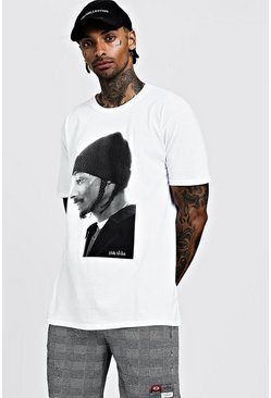 "Oversized T-Shirt mit ""Snoop Dog""-Motiv, Weiß, Herren"
