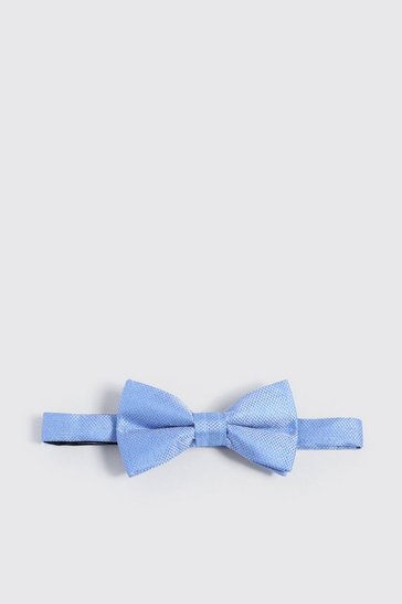 Mens Pale blue Textured Bow Tie