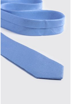 Mens Pale blue Textured Tie
