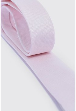 Mens Pale pink Textured Tie
