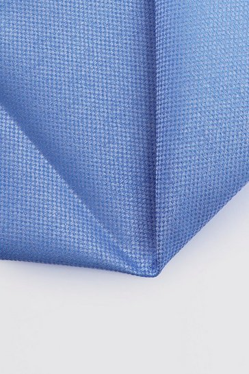 Mens Pacific blue Textured Pocket Square