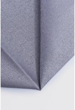 Mens Pale grey Textured Pocket Square