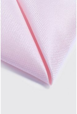 Pale pink Textured Pocket Square