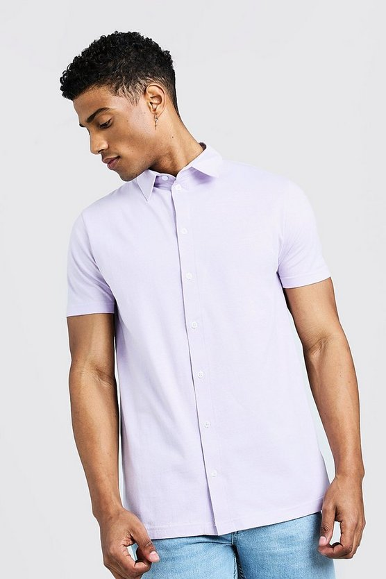 Mens Orchid Short Sleeve Jersey Shirt