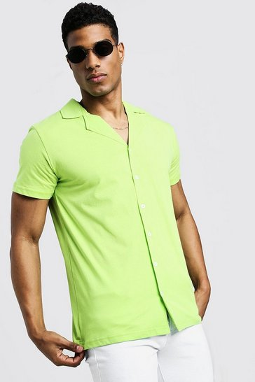 b0ac26c2f092 Neon Clothes Men   Neon T-Shirts & Shirts   boohoo UK