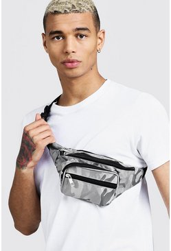 Grey Camo Nylon Bumbag