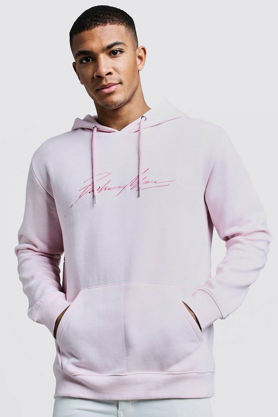 Light pink MAN Autograph Embroidered Hoodie