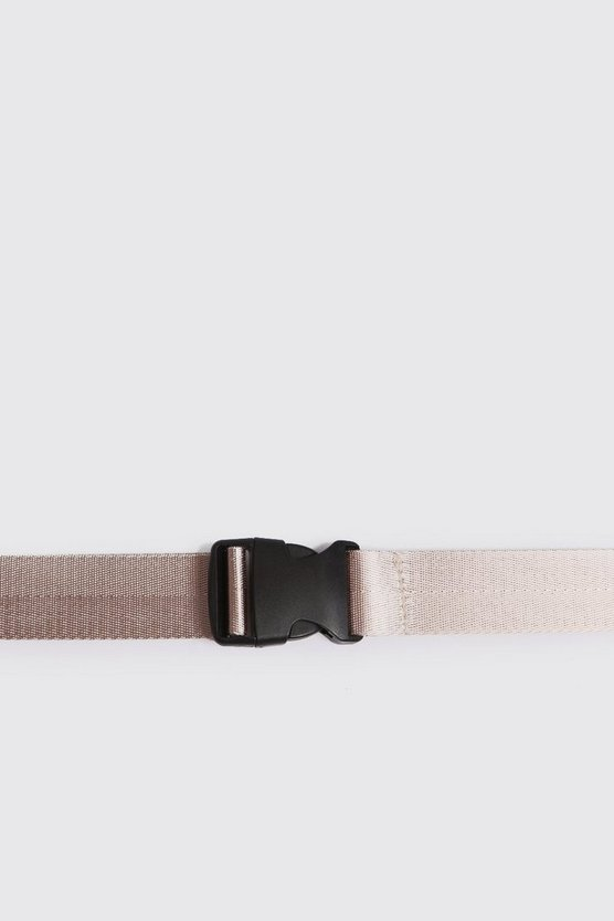 Mens Sand Plastic Buckle Release Belt